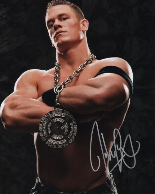john cena 11x14 wwe 11x14 sports the autograph. Black Bedroom Furniture Sets. Home Design Ideas